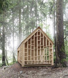 bernd riegger architektur forest refuge wolfurt austria designboom