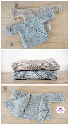 Easy to knit baby kimono cardigan free pattern - knitting baby - # . Easy to knit baby kimono cardigan free pattern – knitting baby – Baby Cardigan Knitting Pattern Free, Baby Sweater Patterns, Knitted Baby Cardigan, Knit Patterns, Easy Baby Knitting Patterns, Baby Jumper, Kimono Pattern Free, Free Baby Patterns, Knit Baby Sweaters
