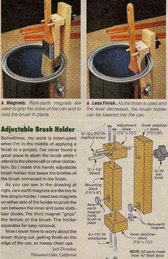 Adjustable Brush Holder - Finishing Tips and Techniques | WoodArchivist.com