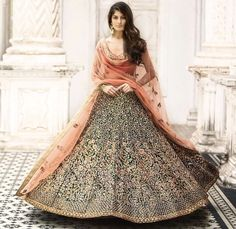 Buy Online Punjabi Wedding Lehenga Designer Collection Call/ WhatsApp us 77164 Indian Bridal Outfits, Indian Bridal Lehenga, Indian Designer Outfits, Indian Dresses, Bridal Dresses, Designer Dresses, Shaadi Lehenga, Sarees, Bridal Anarkali Suits