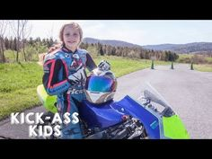 Motorcyclist Racing The Pros 10 Year Old, 10 Years, Motorcycle Racers, Cafe Racer Girl, Old Motorcycles, Competition, Kicks, Racing, Youtube