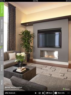 Another fireplace with tv idea