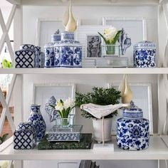As blue and white as the Hampton beaches… our ceramic treasures make an elegan… As blue and white as the Hampton beaches… our ceramic treasures make an elegant and timeless statement. Hamptons Style Decor, The Hamptons, Hamptons Bedroom, Blue And White China, Blue China, Blue Rooms, White Rooms, Ginger Jars, White Houses