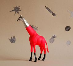 I've seen alot of craft/art things with plastic toy animals