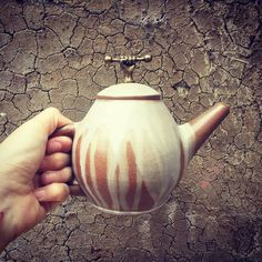 This little guy stayed protected from the flame  in the #Anagama #woodfirekiln because he was hiding inside a big pot. #ceramics #clay #teapot #claycrits #potsinaction #madebyme #artstagram #ceramicsmonthly #australianceramics