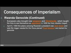 Imperialism to Independence Part 2 - Rwanda (2016)