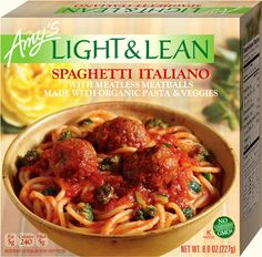 """I'm a fan of Amy's - especially the Indian inspired dishes.  These new Light & Lean meals don't disappoint either!  The meatless meatballs have quinoa in them so you're getting lots of protein and """"fill up."""" Yum!"""