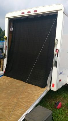 Enclosed Motorcycle Trailer Ideas Camper Conversion Ideas For 2019 Utility Trailer Camper, Enclosed Trailer Camper, Cargo Trailer Camper Conversion, Work Trailer, Cargo Trailers, Camper Trailers, Trailer Build, Travel Trailers, Trailer Shelving