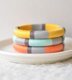 thread-wrapped bangles