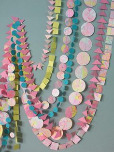 MARBLED LORELAI garland - hand-painted paper decor - Summer party/summer wedding - Mother's day,tropical collection home & party decor Diy Party Decorations, Paper Decorations, Paper Garlands, Painted Paper, Hand Painted, Party Garland, Summer Parties, Shabby Chic, Etsy Handmade