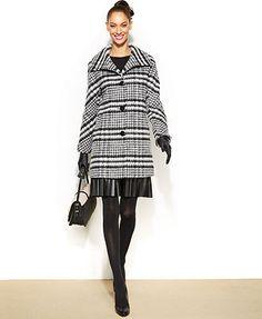 Ellen Tracy Wool-Blend A-Line Walker Coat