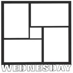 Wednesday 12 x 12 Overlay Laser Die Cut ($4.50) ❤ liked on Polyvore featuring day, frames, borders and picture frame