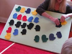 mitten patterning - Great for Winter activity baskets!
