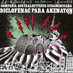 """Arte del álbum """"Diclofenac para Akenatón"""" de Maximiliano Lopez Barrios, 2017 https://australopitecus.bandcamp.com/ http://maximilianolopezbarrios.blogspot.com.ar/ #diclofenac #para #akenaton #maximiliano #lopez #barrios #compañia #australopitecus #sudamericana #album #art #cover #design #collage"""
