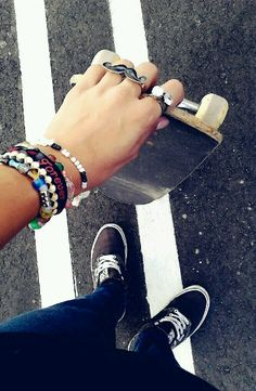 Skateboarding love her jewelry