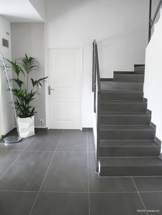 Rénovation d'une villa – St Laurent du Var von INSIDE Création – Flooring Renovation D, Interior, Modern Stairs, Decor Interior Design, Modern Living Room, Modern, New Homes, Villa, Renovations