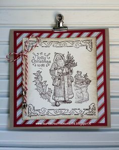 """Christmas Greetings, """"Father Christmas"""", Stampin' Up!"""
