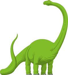 Long Neck Brachiosaurus Dinosaur | Green Brachiosaurus clip art - vector clip art online, royalty free ...