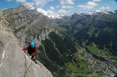 Most Extreme Hiking Trails from Around the Globe - By Sean Vos - This is the most demanding and the longest route in the entire Switzerland. The Lukerbad via ferrata, located in the Bernese Alps, in Dalatal, is dotted with vertical and extremely exposed ladders. The walls are really steep and climbing demands a super good physical condition accompanied by strong nerves. The path is very steep and dangerous throughout the climb, so if the weather is bad, don't go! www.facebook.com/loveswish
