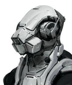concept art cyber cyoborg helmet design illustration render, digital art fantasy sci fi art Aucun texte alternatif disponible.