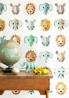 Studio ditte wallpaper wild animals