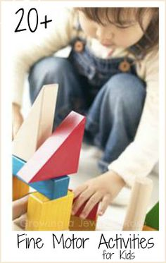 Fine Motor Activities for Kids - great list of different activities with links to awesome blogs!