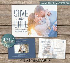 Wedding Save the Date  postcard option printable or printed