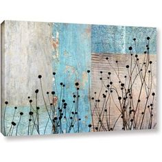 ArtWall Cora Niele Dark Silhouette I Gallery-Wrapped Canvas, Size: 32 x 48, Brown