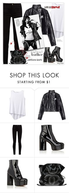 """""""City Slickers: Patent Leather"""" by mcheffer ❤ liked on Polyvore featuring prAna, Courrèges, Gucci, Marc Jacobs, Chanel and patentleather"""