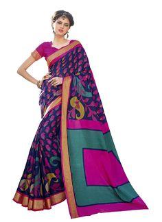 Desirable Print Work Casual Saree