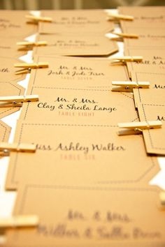 Luggage Tag Place Cards by imaginationpad on Etsy, $40.00