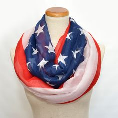 American flag Scarf by ScarfEco on Etsy, $14.89