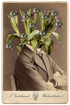 W. Strempler 2014. #trendwatching #eye #observe Surreal Art, Collages, Collage Artwork, Mixed Media Art, Surrealist Collage, Psychological Effects, Street Art, Vintage Artwork, Potsdam Germany