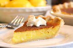 Lemon Chess Pie - Super simple to make and equally easy to eat! Tart and sweet and wonderfully delicious. www.savingdessert.com