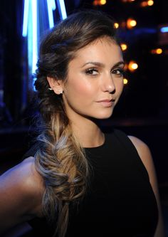 Nina Dobrev's messy fishtail braid is perfect for those blessed with long, thick hair!