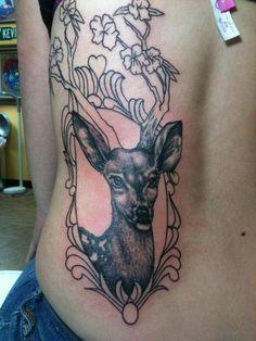 Love deer and antler tattoos