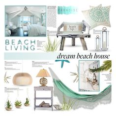 """""""Beach Living..."""" by desert-belle ❤ liked on Polyvore featuring interior, interiors, interior design, home, home decor, interior decorating, NOVICA, JCPenney Home, Pier 1 Imports and Secto Design"""