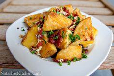 Crisp pommes de terre rôties au four avec du bacon et fromage