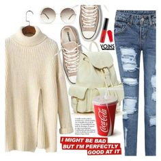 """Yoins 12:Street Style"" by pokadoll ❤ liked on Polyvore featuring Chloé, Converse, MAC Cosmetics, NARS Cosmetics, MustHave, fall2015 and yoins"