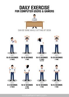 work desk daily exercise for gamers and computer which can be done ...