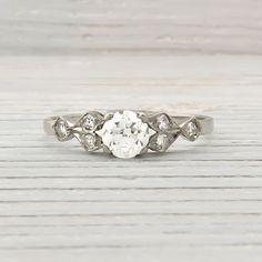Image of .50 Carat Vintage Diamond Engagement Ring