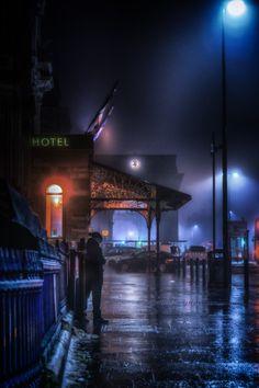 A collection of moody shots taken on my travels. Night Aesthetic, Aesthetic Photo, Newcastle England, Night Scenes, Rainy City, Northern Exposure, Rain Photography, Night City, Rainy Days