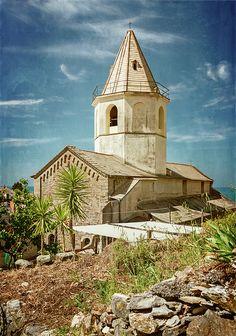 Church of San Pietro Corniglia Cinque Terre Italy by Joan Carroll