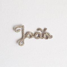 Nossos mini nomes em crochê! ❤️ #crochet #handmade #nomesemcroche
