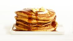 Get the recipe for Pumpkin Pancakes With Spiced Maple Syrup.