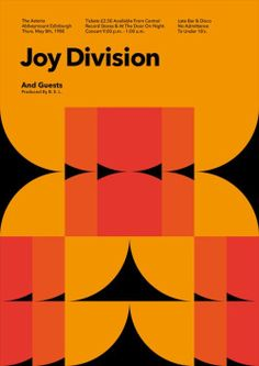 "emotional-pictures: "" Joy Division Gig Poster """