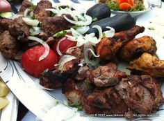 Famous azeri food-Kebab.