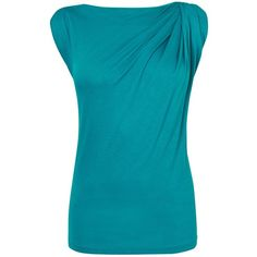 L.K. Bennett Dunham Sleeveless Top, Jade ($54) ❤ liked on Polyvore featuring tops, cap sleeve top, sleeveless tops, blue top, boat neck tank and l.k.bennett