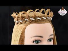 crown braid - Easy and quick hairstyles for girls Fast Hairstyles, Dress Hairstyles, Formal Hairstyles, Braided Hairstyles, Competition Hair, Crazy Hair Days, Hair Affair, Hair Images, Hair Videos