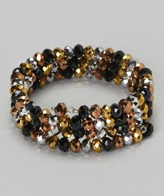 Take a look at this Copper & Black Metallic Coil Bracelet by Embassy Jewels on #zulily today!